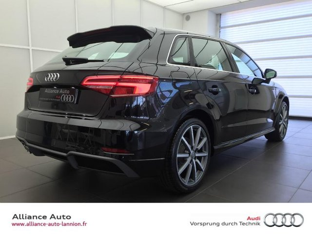 audi a3 sportback d occasion lannion annee 2016 2 0 tdi 150ch design luxe s tronic 6. Black Bedroom Furniture Sets. Home Design Ideas