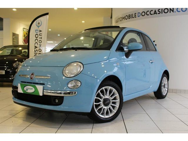 voiture fiat 500c occasion 1 2 8v 69ch lounge hes8 803634. Black Bedroom Furniture Sets. Home Design Ideas