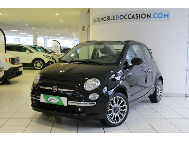 fiat 500c occasion 1 2 8v 69ch lounge dualogic dijon hes8 802994. Black Bedroom Furniture Sets. Home Design Ideas
